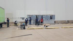 25 ton comercial ac unit install
