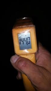 HVAC temp testing device